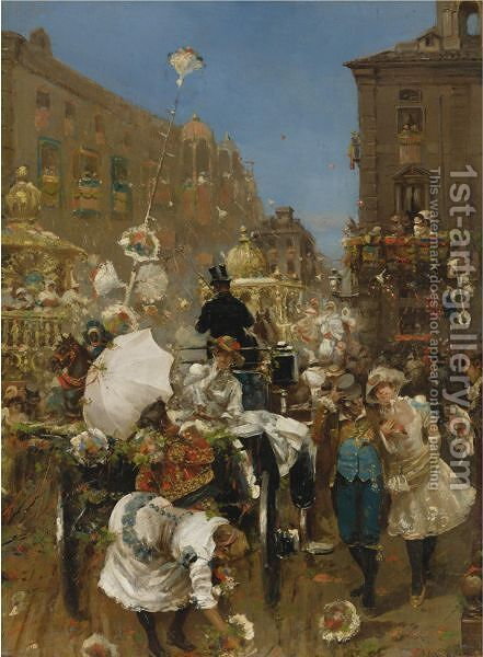 Il Corso Mascherato, Rome by Daniel Hernandez - Reproduction Oil Painting