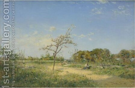 Spring, 1888 by Ivan Pavlovich Pokhitonov - Reproduction Oil Painting