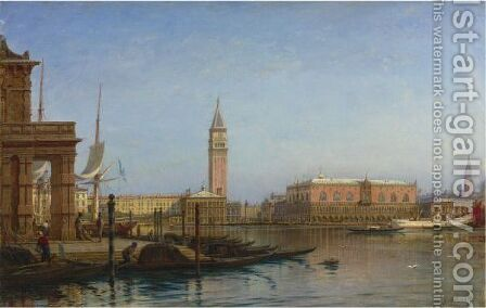 View Of Venice. Customs House by Aleksei Petrovich Bogoliubov - Reproduction Oil Painting