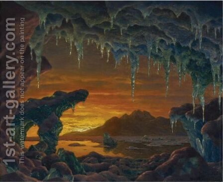 Arctic Grotto by Ivan Fedorovich Choultse - Reproduction Oil Painting