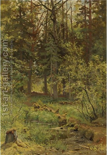 Forest Landscape, 1889 by Ivan Shishkin - Reproduction Oil Painting