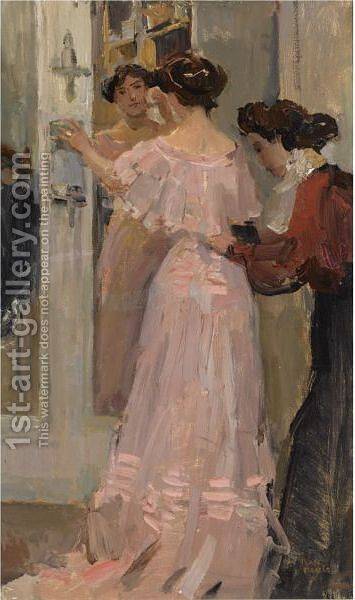 In The Fitting Room Of Hirsch, Amsterdam by Isaac Israels - Reproduction Oil Painting