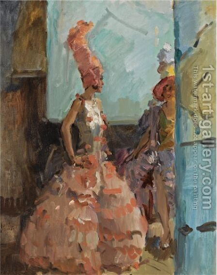Revue Girls In The Scala Theatre, The Hague by Isaac Israels - Reproduction Oil Painting