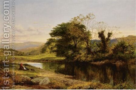 A Quiet Pool On The Bettws-Y-Coed by Benjamin Williams Leader - Reproduction Oil Painting