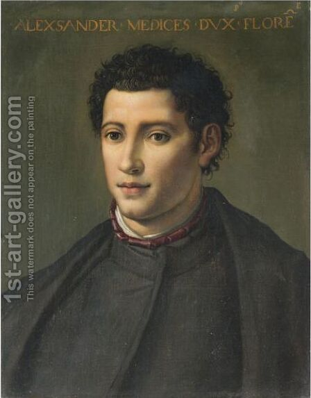 Portrait Of Alessandro De' Medici, Duke Of Florence And Penne (1510-1537) by (after) Alessandro Allori - Reproduction Oil Painting