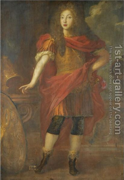 Portrait Of A Nobleman, Full Length, Wearing Classical Dress by (after) Honthorst, Gerrit van - Reproduction Oil Painting