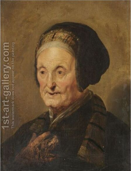 A Tronie Of An Elderly Lady In Oriental Dress by (after) Hendrick Bloemaert - Reproduction Oil Painting