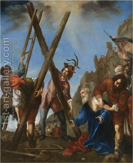 The Martyrdom Of Saint Andrew 2 by (after) Carlo Dolci - Reproduction Oil Painting