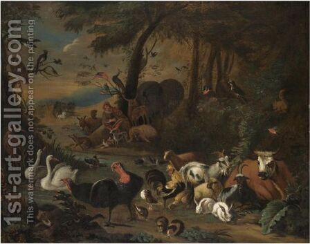 Orpheus Charming The Animals by Dutch School - Reproduction Oil Painting