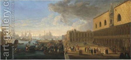 Venice, A View Of The Bacino Di San Marco by (after) Luca Carlevarijs - Reproduction Oil Painting