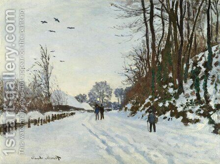 La Route De La Ferme Saint-Simeon En Hiver by Claude Oscar Monet - Reproduction Oil Painting