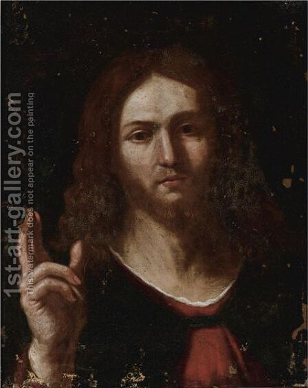 Christ As Salvator Mundi by (after) Giovanni Francesco Guercino (BARBIERI) - Reproduction Oil Painting