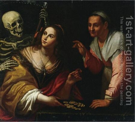 Vanitas, Allegory Of The Ages by (after) Giovanni Martinelli - Reproduction Oil Painting