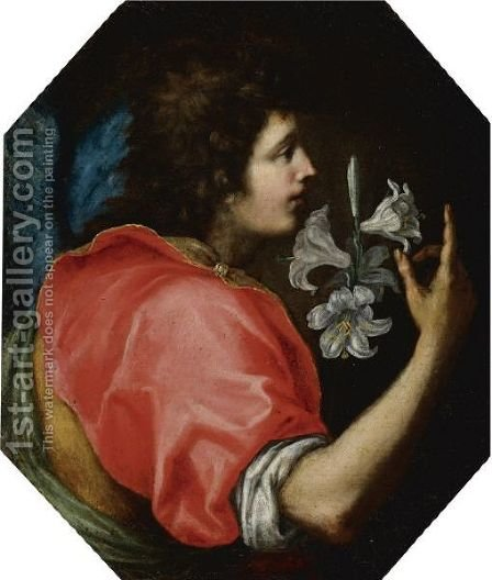 Archangel Gabriel by (after) Jacopo Vignali - Reproduction Oil Painting