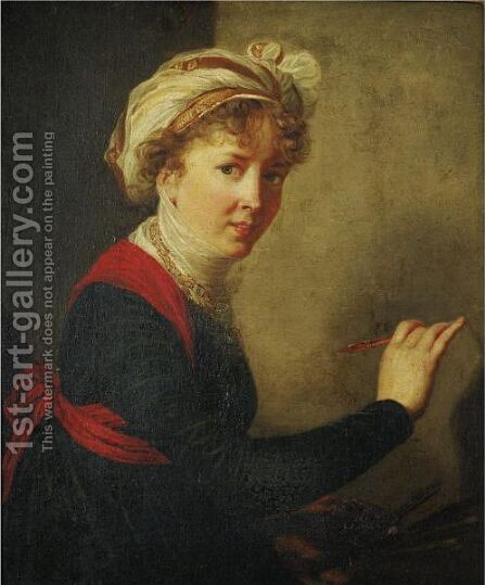 Self Portrait 2 by (after) Elisabeth Vigee-Lebrun - Reproduction Oil Painting
