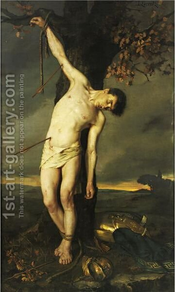 Saint Sebastian by Alcide Joseph Lorentz - Reproduction Oil Painting