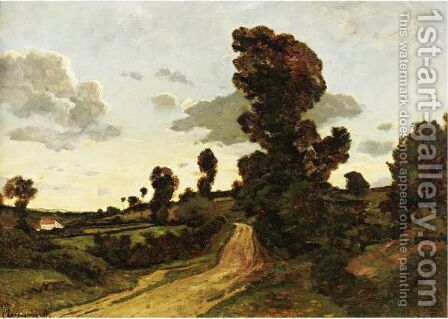 Paysage D'Ete by Henri-Joseph Harpignies - Reproduction Oil Painting