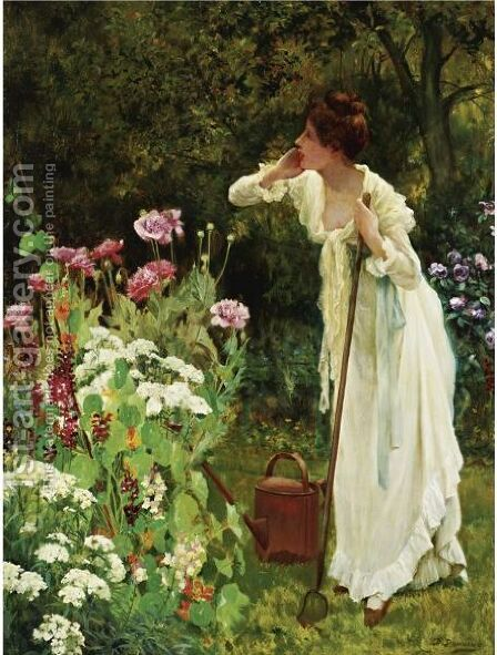 In The Fullness Of Summer by Delapoer Downing - Reproduction Oil Painting