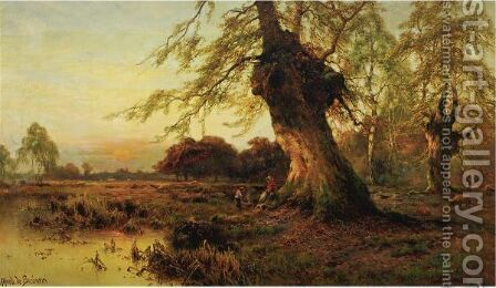 Shepherds At Sunset by Alfred de Breanski - Reproduction Oil Painting