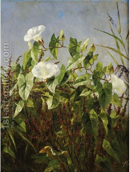 Morning Glories by Anthonore Christensen - Reproduction Oil Painting
