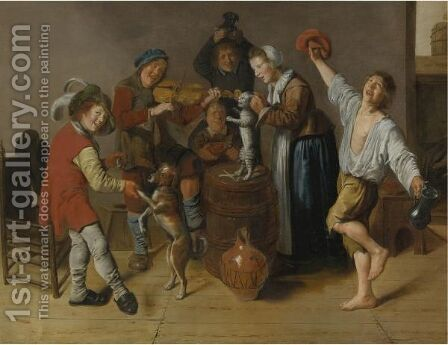 Children Playing And Merrymaking by Jan Miense Molenaer - Reproduction Oil Painting