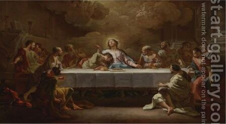 The Last Supper by Corrado Giaquinto - Reproduction Oil Painting