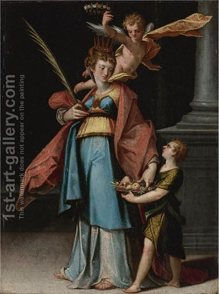 St. Dorothy by Bartholomaeus Spranger - Reproduction Oil Painting