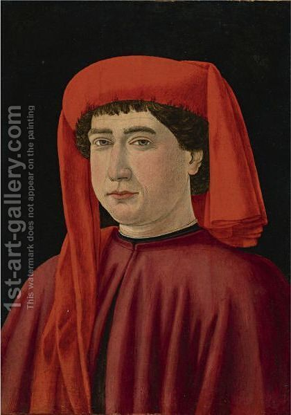 Portrait Of A Gentleman, Said To Be Francesco Datini by Cosimo Rosselli - Reproduction Oil Painting