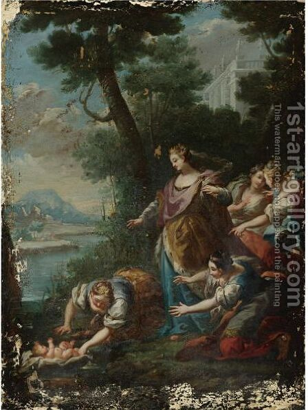 The Finding Of Moses by (after) Giovanni Camillo Sagrestani - Reproduction Oil Painting