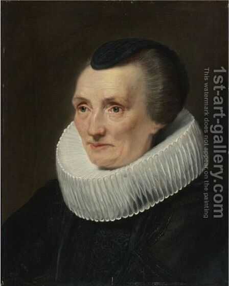 Portrait Of Geertruide De Jode, Wife Of Jan De Wael by (after) Dyck, Sir Anthony van - Reproduction Oil Painting