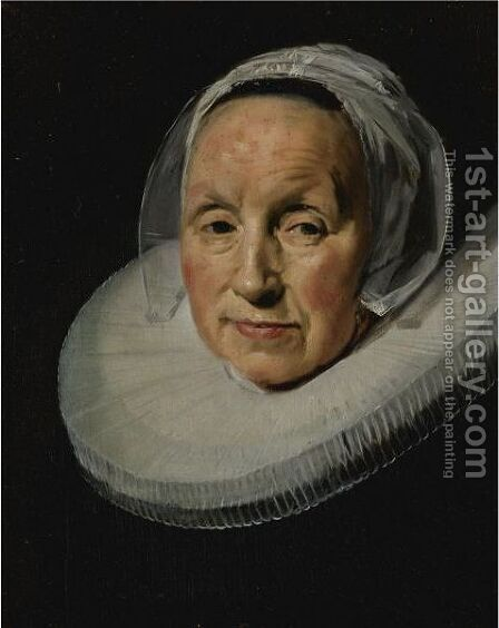 Portrait Of A Woman In A White Ruff by (after) Frans Hals - Reproduction Oil Painting