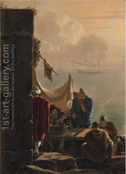 Anatolian Pirates by Jan Asselijn - Reproduction Oil Painting