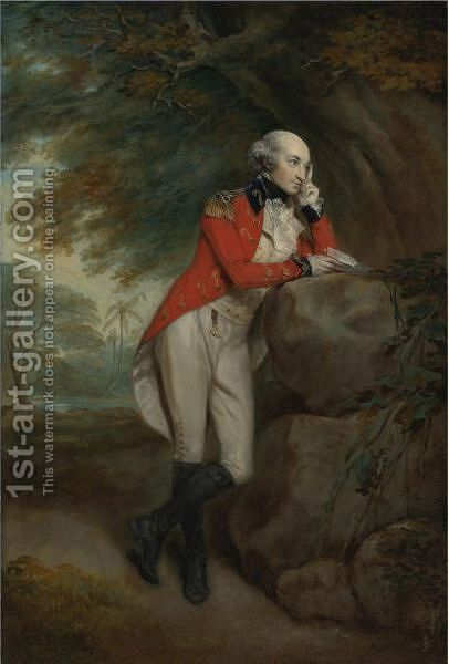 Portrait Of Adam Atkinson Of Torbottle by Arthur William Devis - Reproduction Oil Painting