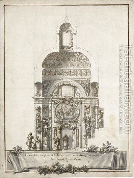 Design For A Chapel Of St Ferma by Carlo Marchionni - Reproduction Oil Painting