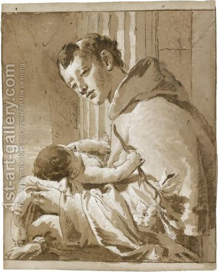 St. Anthony Of Padua And The Christ Child by Giovanni Battista Tiepolo - Reproduction Oil Painting