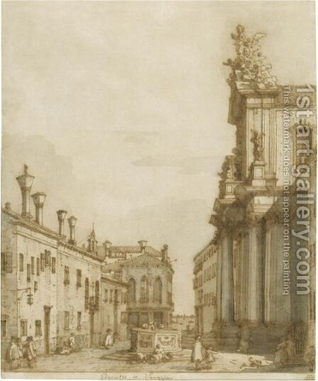 The Campo Dei Gesuiti, Venice by (Giovanni Antonio Canal) Canaletto - Reproduction Oil Painting