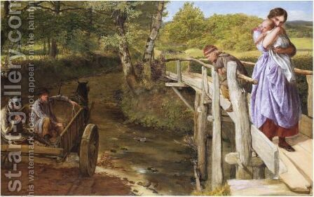 And Out Again I Curve And Flow, To Join The Brimming River by James Clarke Hook - Reproduction Oil Painting