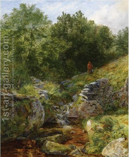 Streamlet At Bettws-Y-Coed by Benjamin Williams Leader - Reproduction Oil Painting