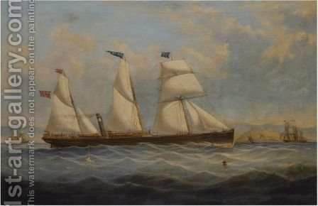 The Ss Antona II Passing Little Cumbrae by (after) Samuel Holburn Fyfe - Reproduction Oil Painting