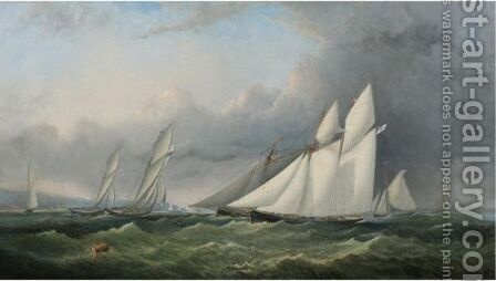 A Yacht Race On The Solent, Off Cowes - Isle Of Wight by Arthur Wellington Fowles - Reproduction Oil Painting