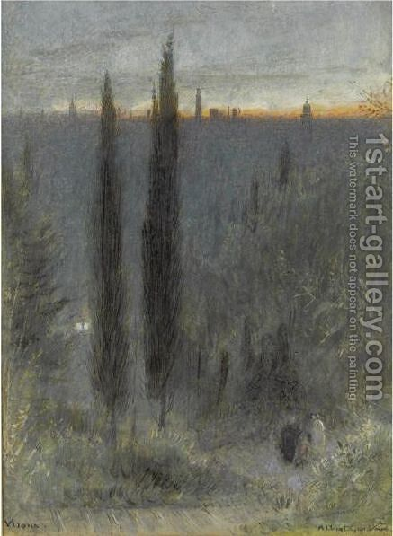 Verona by Albert Goodwin - Reproduction Oil Painting