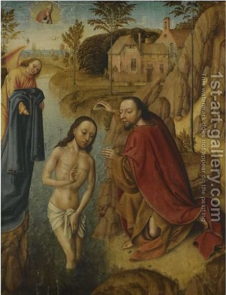 The Baptism Of Christ by (after) Dieric The Elder Bouts - Reproduction Oil Painting