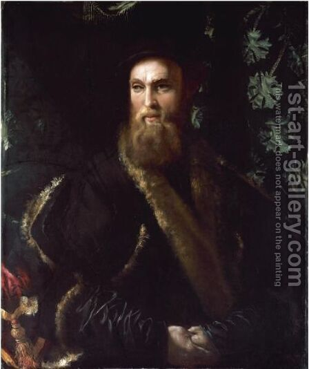 Portrait Of Bindo Altoviti (1491-1556) by Girolamo da Carpi - Reproduction Oil Painting
