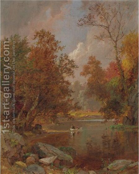 Autumn On The River by Jasper Francis Cropsey - Reproduction Oil Painting