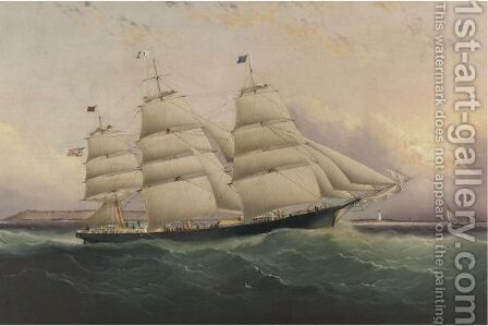 The Clipper Ship Sunrise by James E. Buttersworth - Reproduction Oil Painting