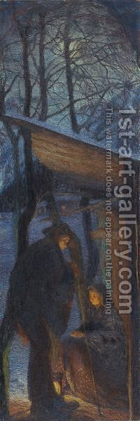Christmas, 1897 by Giovanni Giacometti - Reproduction Oil Painting