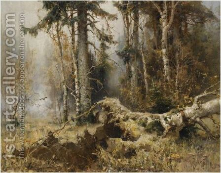 The Forest In Early Morning by Iulii Iul'evich (Julius) Klever - Reproduction Oil Painting