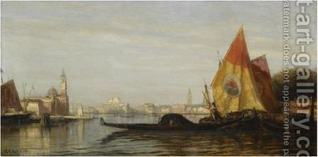 View Of Venice by (after) Aleksei Petrovich Bogoliubov - Reproduction Oil Painting