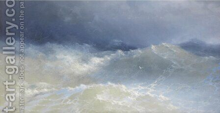 Among The Waves by Ivan Konstantinovich Aivazovsky - Reproduction Oil Painting