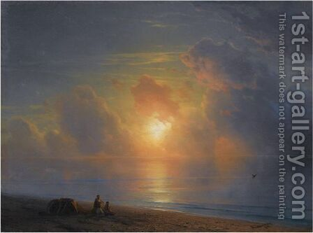 Sunset Over The Crimean Coast by Ivan Konstantinovich Aivazovsky - Reproduction Oil Painting